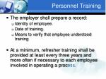 personnel training