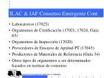 ilac iaf consenso emergente cont