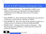 ilac iaf consenso emergente cont3