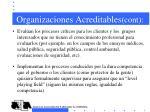 organizaciones acreditables cont