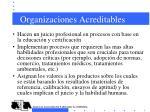 organizaciones acreditables