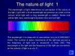 the nature of light 1