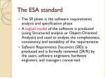 the esa standard3