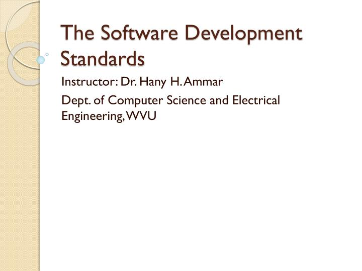 the software development standards n.