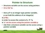 pointer to structure1