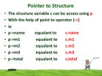 pointer to structure3