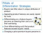 pitfalls of differentiation strategies