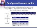 configuraci n electr nica