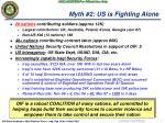 myth 2 us is fighting alone