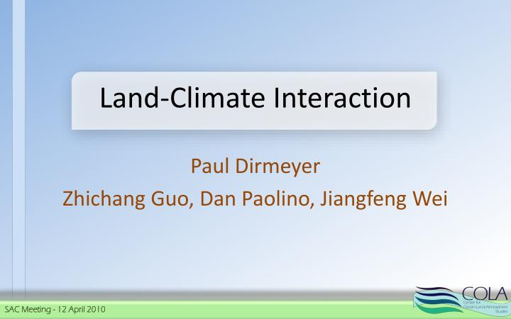 land climate interaction n.