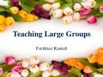 teaching large groups
