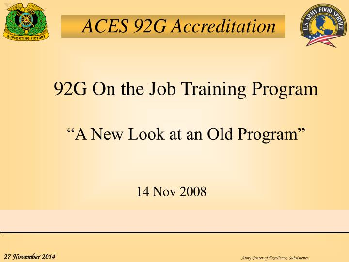 ACES 92G Accreditation