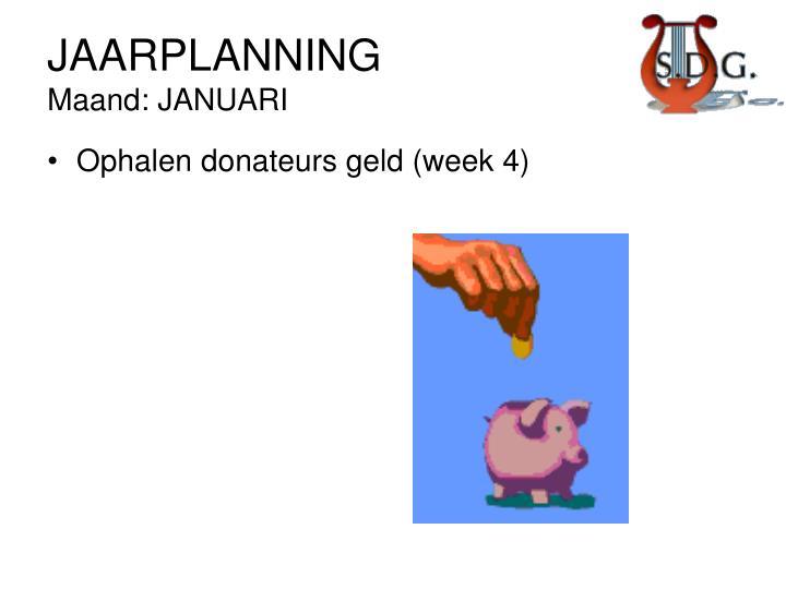 JAARPLANNING
