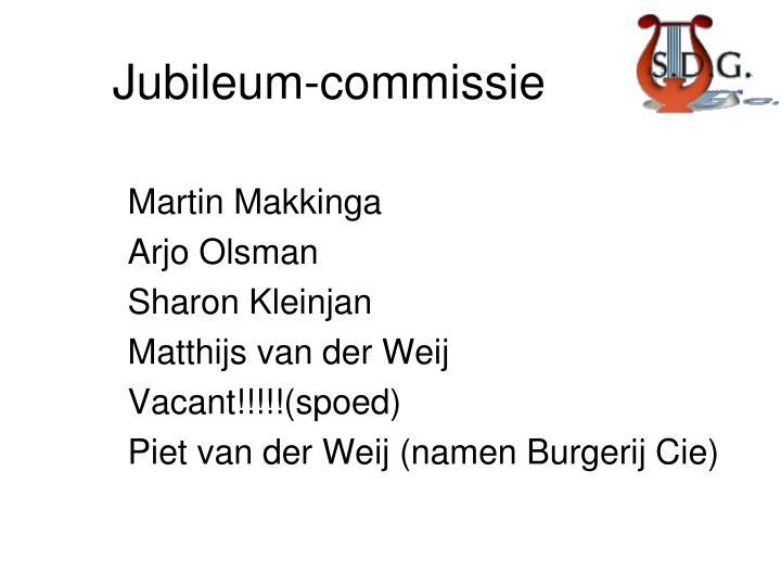 Jubileum commissie