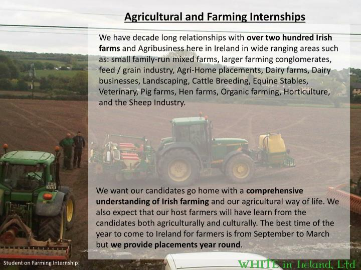 Agricultural and Farming Internships