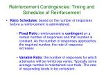 reinforcement contingencies timing and schedules of reinforcement2