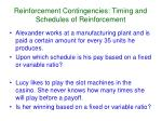 reinforcement contingencies timing and schedules of reinforcement3