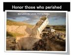 honor those who perished