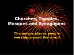 churches temples mosques and synagogues