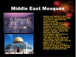 middle east mosques