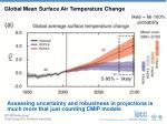 global mean surface air temperature change1