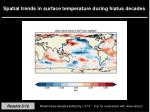 spatial trends in surface temperature during hiatus decades