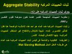 aggregate stability