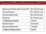 financial physical performance 2010 11