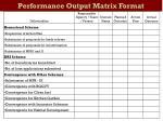 performance output matrix format2