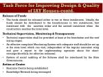 task force for improving design quality of iay houses contd