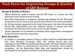 task force for improving design quality of iay houses