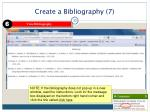 create a bibliography 7
