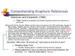 comprehending anaphoric references2