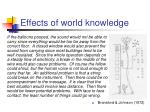 effects of world knowledge
