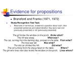 evidence for propositions1