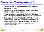 procurement planning involvement