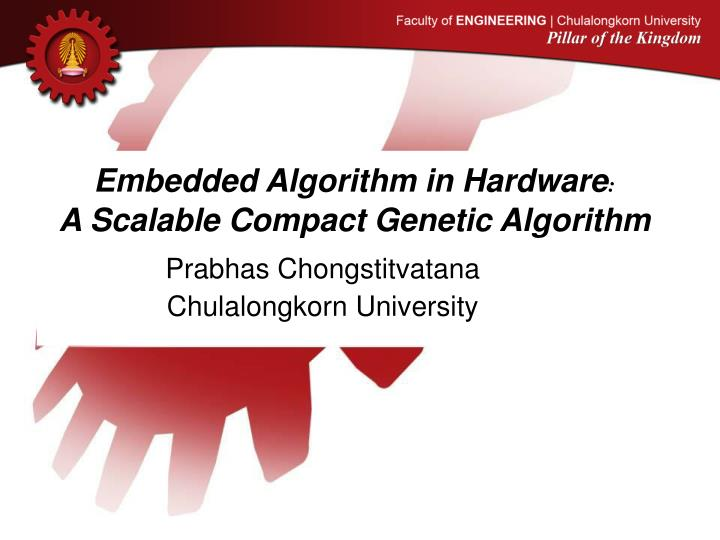 embedded algorithm in hardware a scalable compact genetic algorithm n.