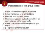 pseudocode of the group leader