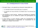 iii cons quences et solutions