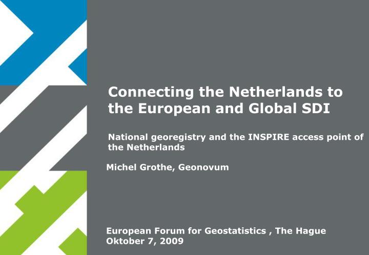connecting the netherlands to the european and global sdi n.