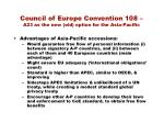 council of europe convention 108 a23 as the new old option for the asia pacific