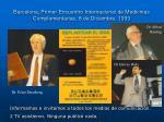 barcelona primer encuentro internacional de medicinas complementarias 8 de diciembre 1993