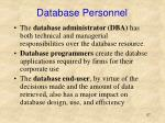 database personnel