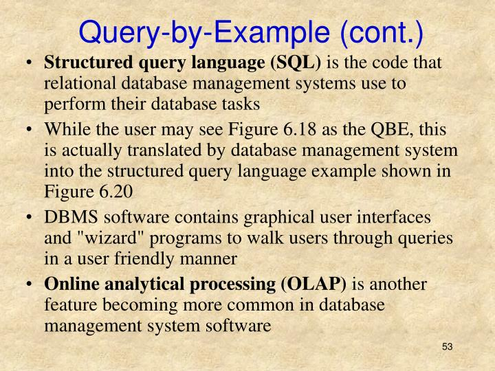 Query-by-Example (cont.)