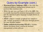 query by example cont