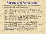 reports and forms cont