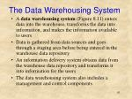 the data warehousing system