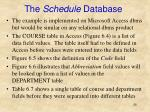 the schedule database