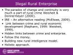 illegal rural enterprise