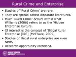 rural crime and enterprise